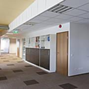 Spacious Office Hallway Art Print by Jaak Nilson