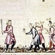Spain: Medieval Ballgame Art Print