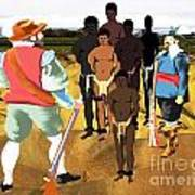 Spaniards Capturing Slaves Art Print