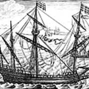 Spanish Ship, C1595 Art Print