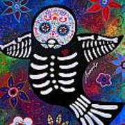 Sparrow Day Of The Dead Art Print