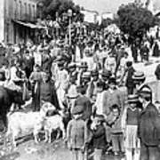 Sparta Greece - Street Scene - C 1907 Art Print