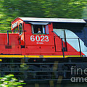 Speeding Cn Train Art Print