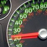 Speedometer Print by Johnny Greig
