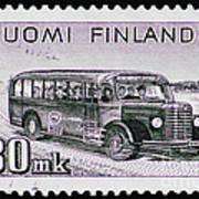 Speedy Old Bus Art Print