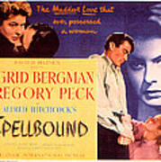 Spellbound, Ingrid Bergman, Gregory Art Print