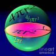 Sphere Blue Art Print