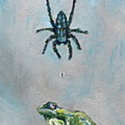 Spider Fly And Toad Print by Fabrizio Cassetta