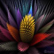 Spiky Botanical Art Print by Peggi Wolfe