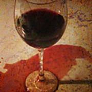 Spilled Wine Art Print