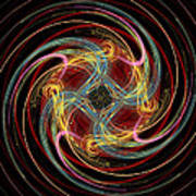 Spin Fractal Art Print