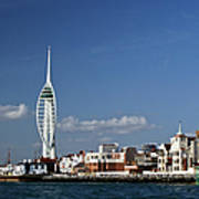 Spinnaker Tower And Round Tower Portsmouth Art Print