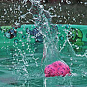 Splash Pool Art Print