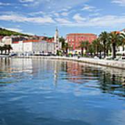 Split Bay In Croatia Art Print