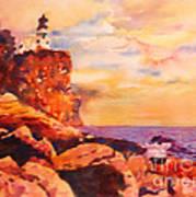Split Rocks Golden Memories       Art Print