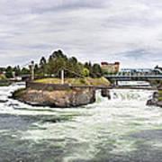 Spokane Falls From The Lincoln Street Bridge Art Print
