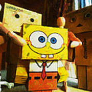Spongebob Always Loves The Group Hugs Art Print