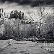 Spooky Castle Rock Print by Darcy Michaelchuk