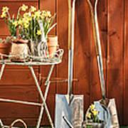 Spring Gardening Art Print by Amanda Elwell