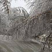 Spring Ice Storm Art Print