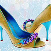 Spring In Your Step Pumps Art Print