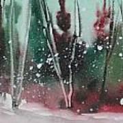 Spring Snowfall  Art Print