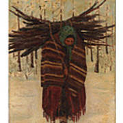 Squaw With Wood Art Print