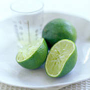 Squeezed Lime Art Print by David Munns