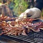 Squid Skewers Barbecue Art Print