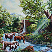 Srb Wild Horses Art Print