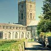 St Davids Cathedral Pembrokeshire Lomo Art Print