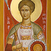 St Demetrios The Myrrhstreamer Print by Julia Bridget Hayes