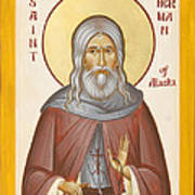 St Herman Of Alaska Art Print by Julia Bridget Hayes