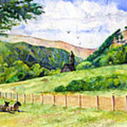 St. Kevin's And Wicklow Mountians Art Print