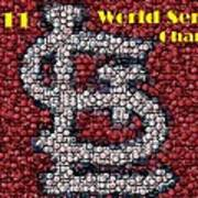 St. Louis Cardinals World Series Bottle Cap Mosaic Art Print