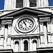 St Louis Cathedral Clock Jackson Square French Quarter New Orleans Fresco Digital Art Art Print