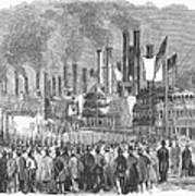St. Louis: Steamboats, 1857 Art Print