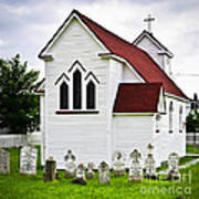 St. Luke's Church And Cemetery In Placentia Art Print by Elena Elisseeva