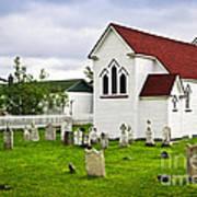 St. Luke's Church In Placentia Newfoundland Art Print by Elena Elisseeva