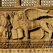 St. Mark The Winged Lion Art Print by Chris Hill
