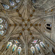 St Mary's Ceiling Art Print by Adrian Evans