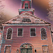 St. Mary's Episcopal Church In Pastel Art Print