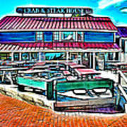St Michaels Crab And Steak House Art Print