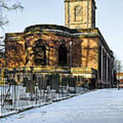 St Modwen's Church - Burton - In The Snow Art Print