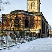 St Modwen's Church - Burton - In The Snow Art Print