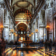 St Paul Cathedral Interior Art Print