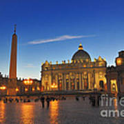 St Peters Basilica Art Print by Ed Rooney