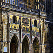 St Vitus Cathedral Entrance Art Print