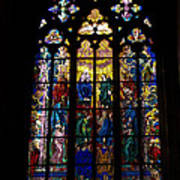 St Vitus Cathedral Stained Glass Art Print