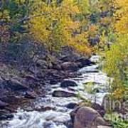 St Vrain Canyon And River Autumn Season Boulder County Colorado Art Print